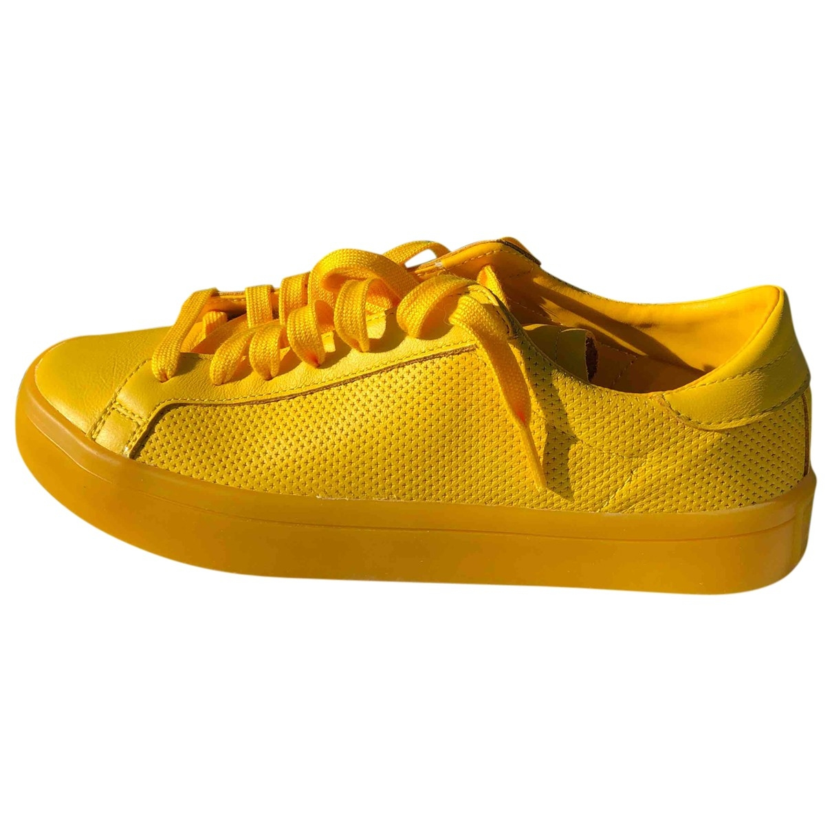 Adidas - Baskets   pour homme en cuir - jaune