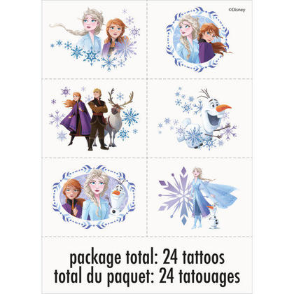 Disney Frozen 2 Tattoos, 24ct For Birthday Party