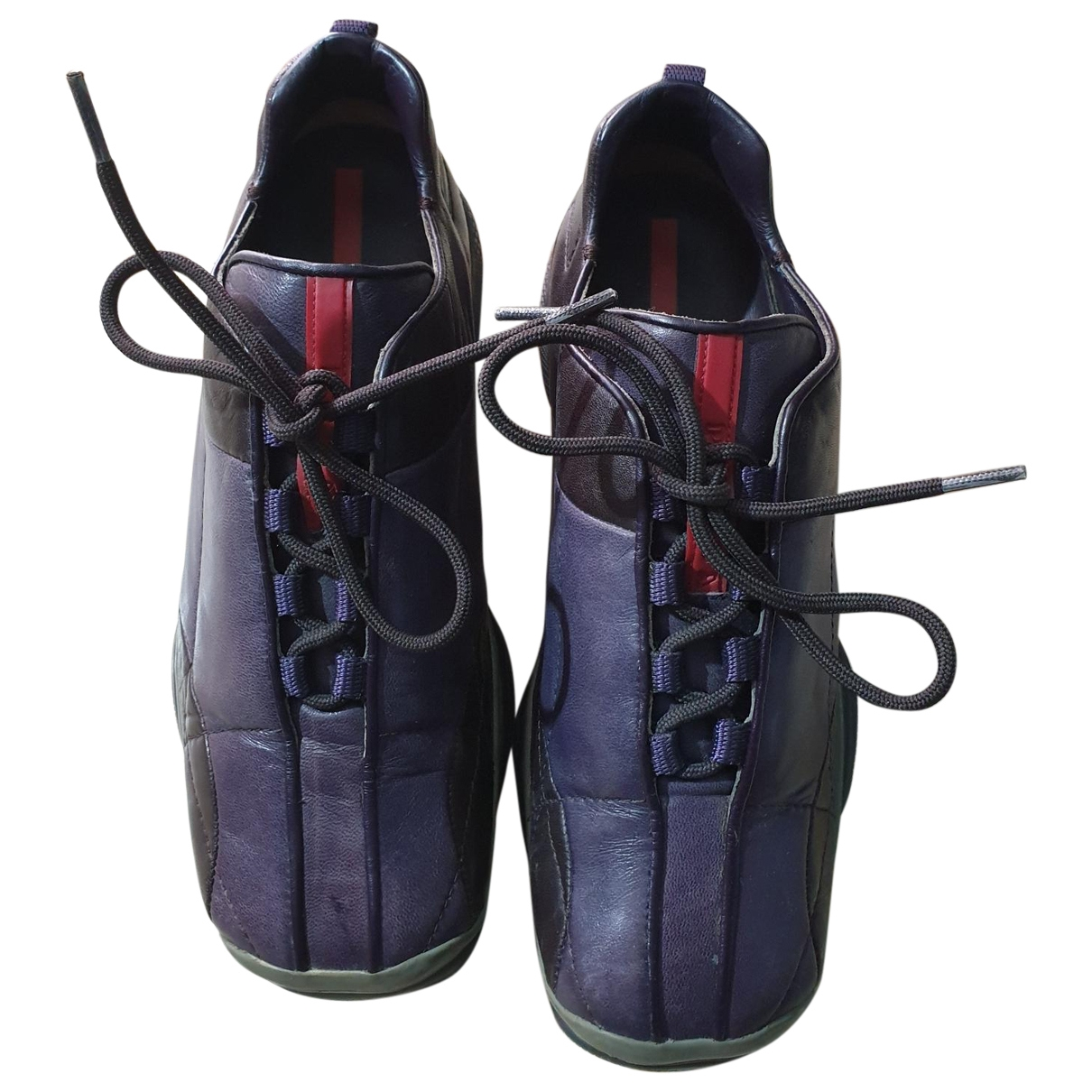 Prada \N Purple Leather Trainers for Women 37 EU