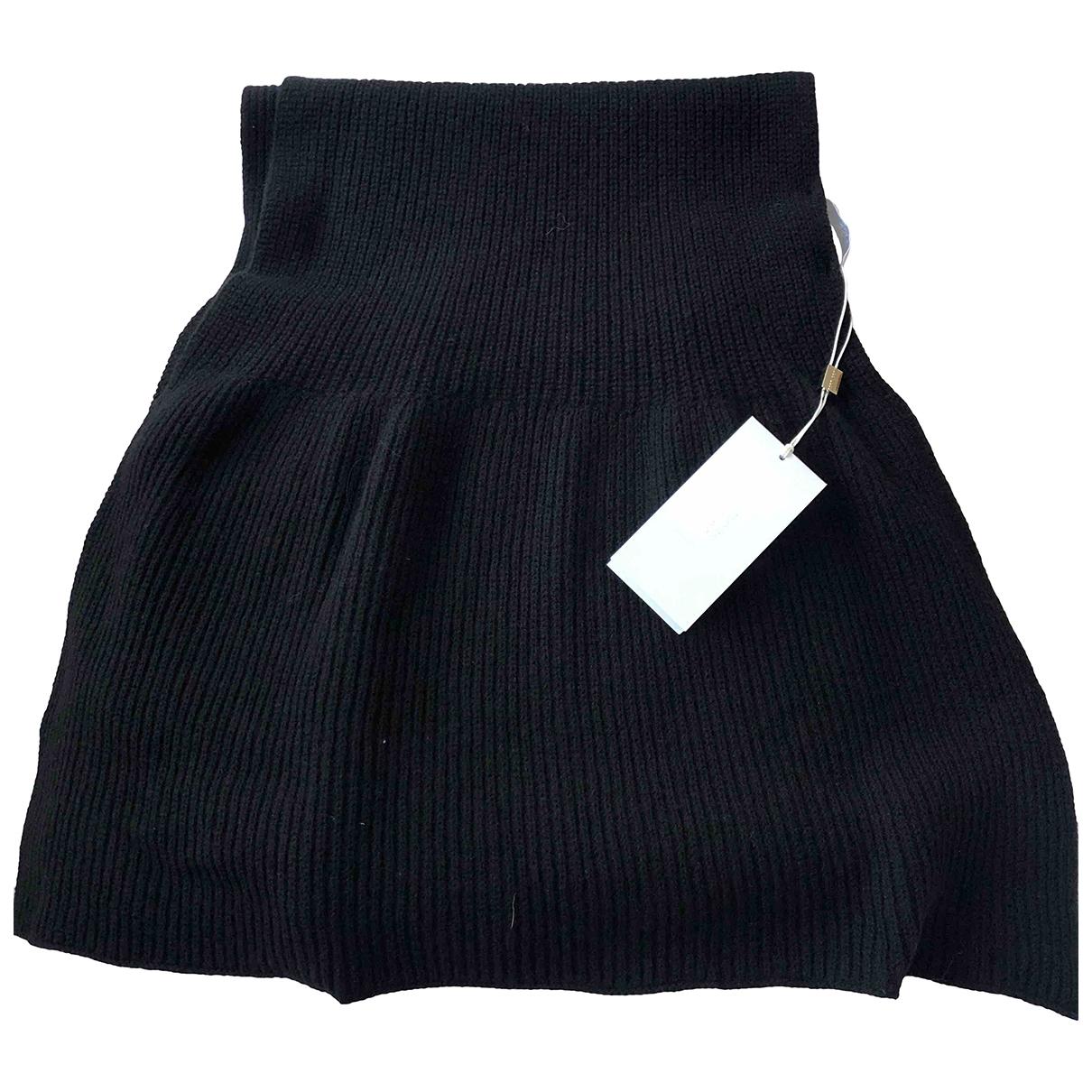 Hugo Boss - Foulard   pour femme en laine - noir