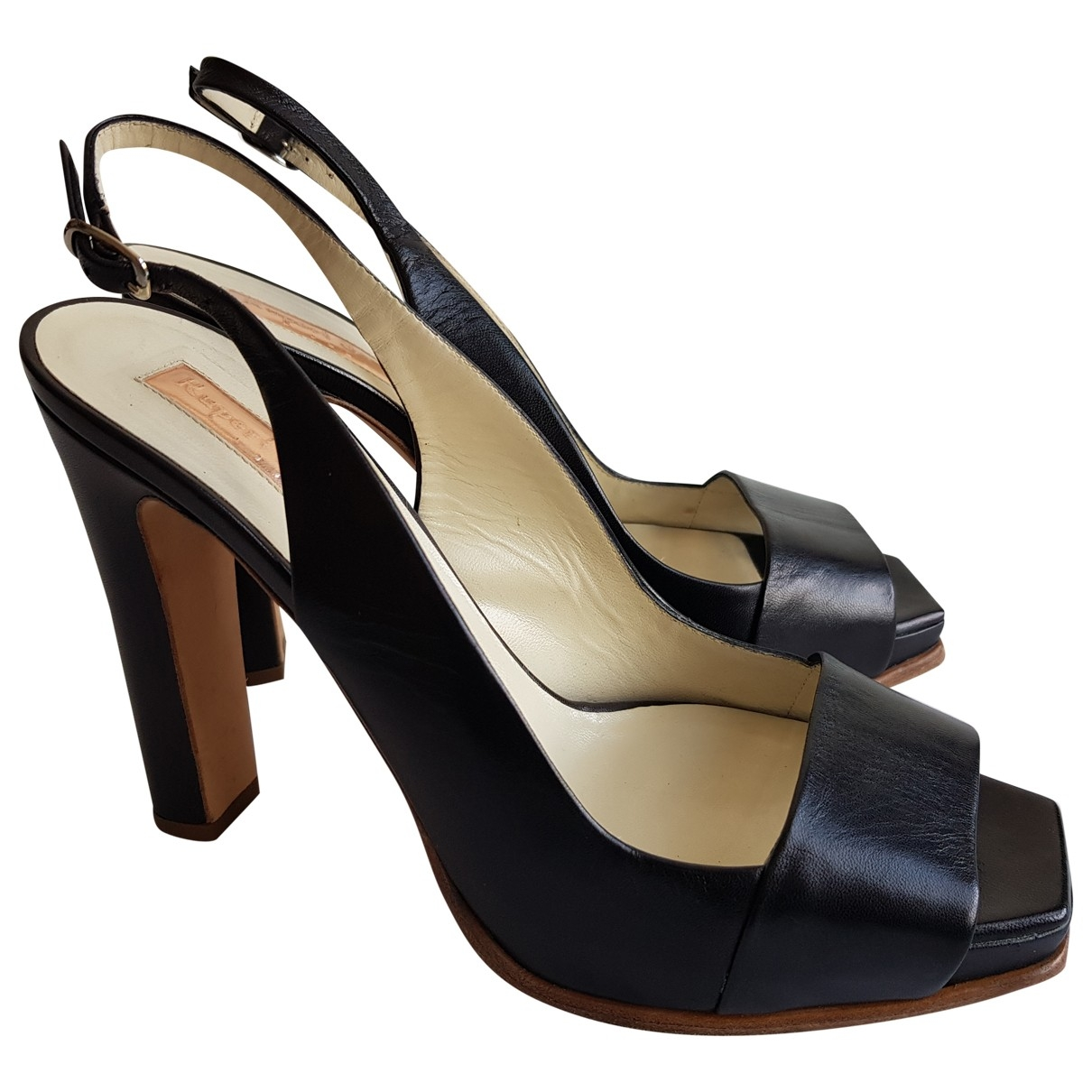Rupert Sanderson \N Black Leather Sandals for Women 39 EU