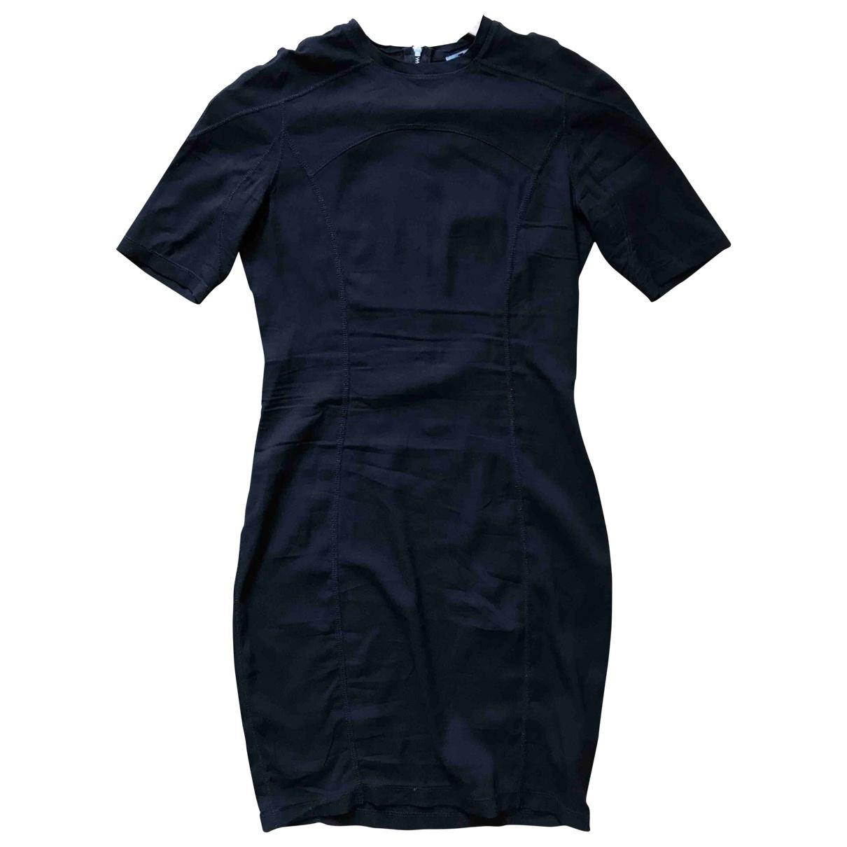T By Alexander Wang - Robe   pour femme en soie - noir