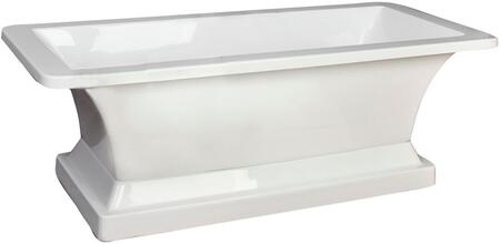 ATRECN67B-WH Sydney Acrylic Rectangular Tub w/base 67 WH or Faucet