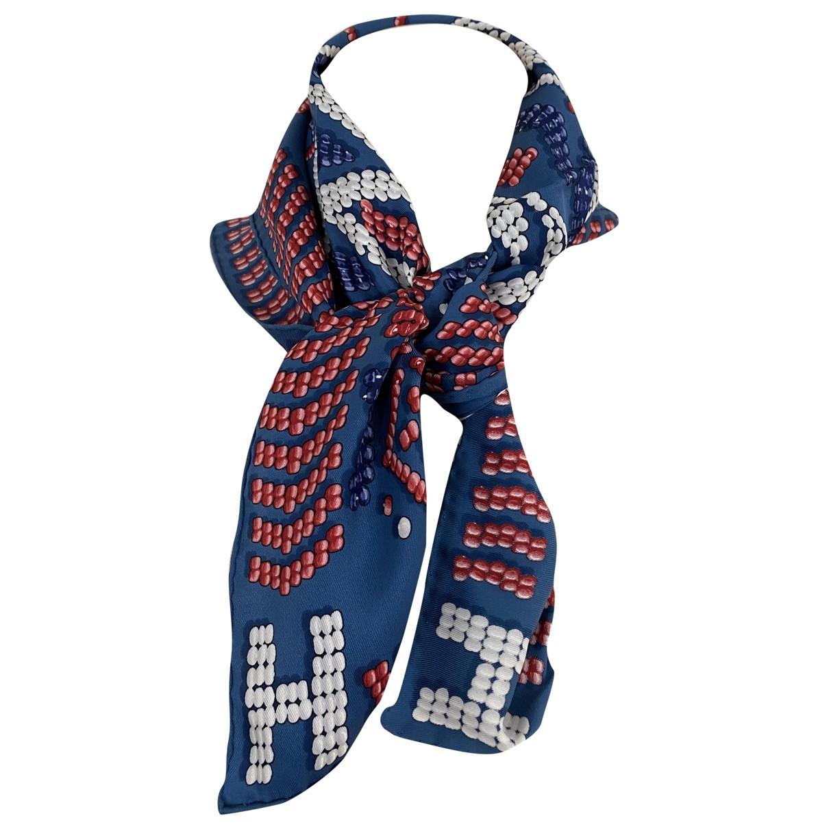 Hermes \N Schal in  Blau Seide