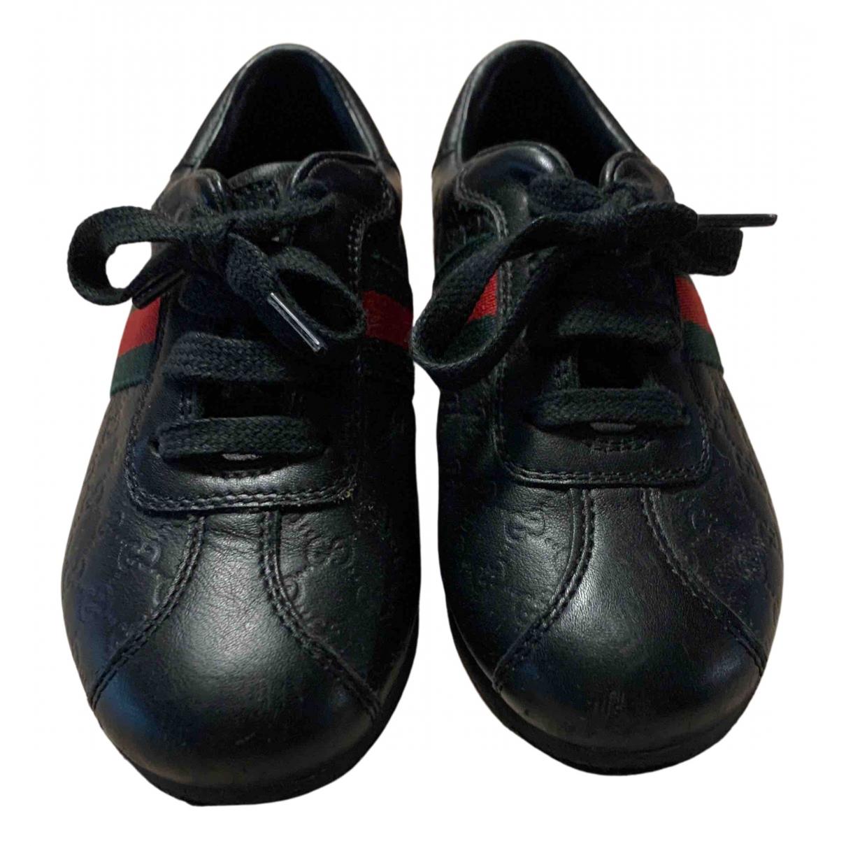 Gucci - Baskets   pour enfant en cuir - noir