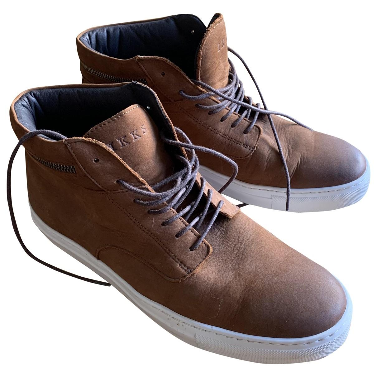 Ikks \N Sneakers in  Kamel Leder