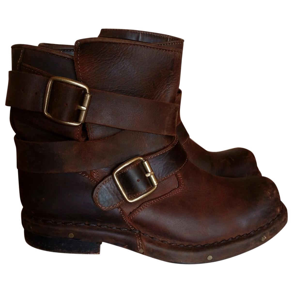 Jeffrey Campbell - Bottes   pour femme en cuir - marron