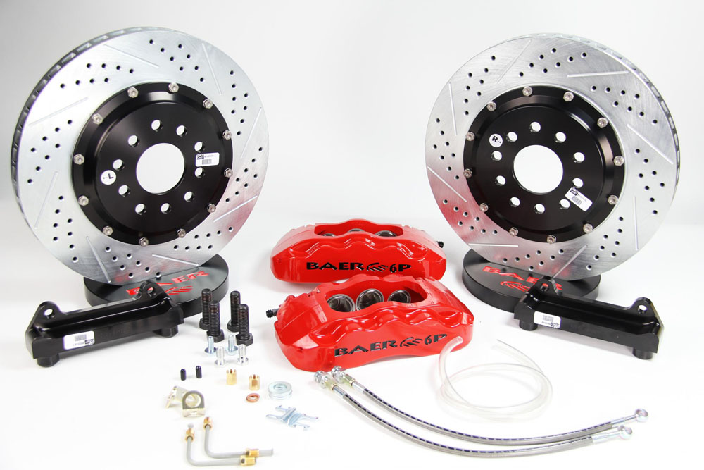 Baer Brakes Brake System 14 Inch Front Pro+ Red 88-96 GM Y Body