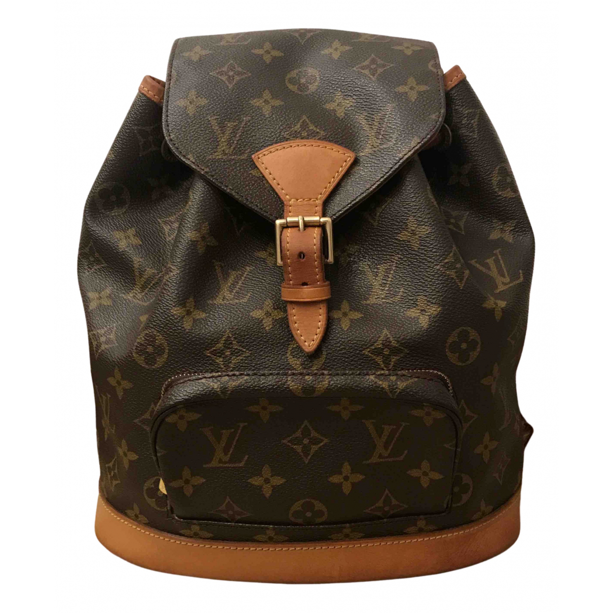 Louis Vuitton Montsouris Brown Cloth backpack for Women \N