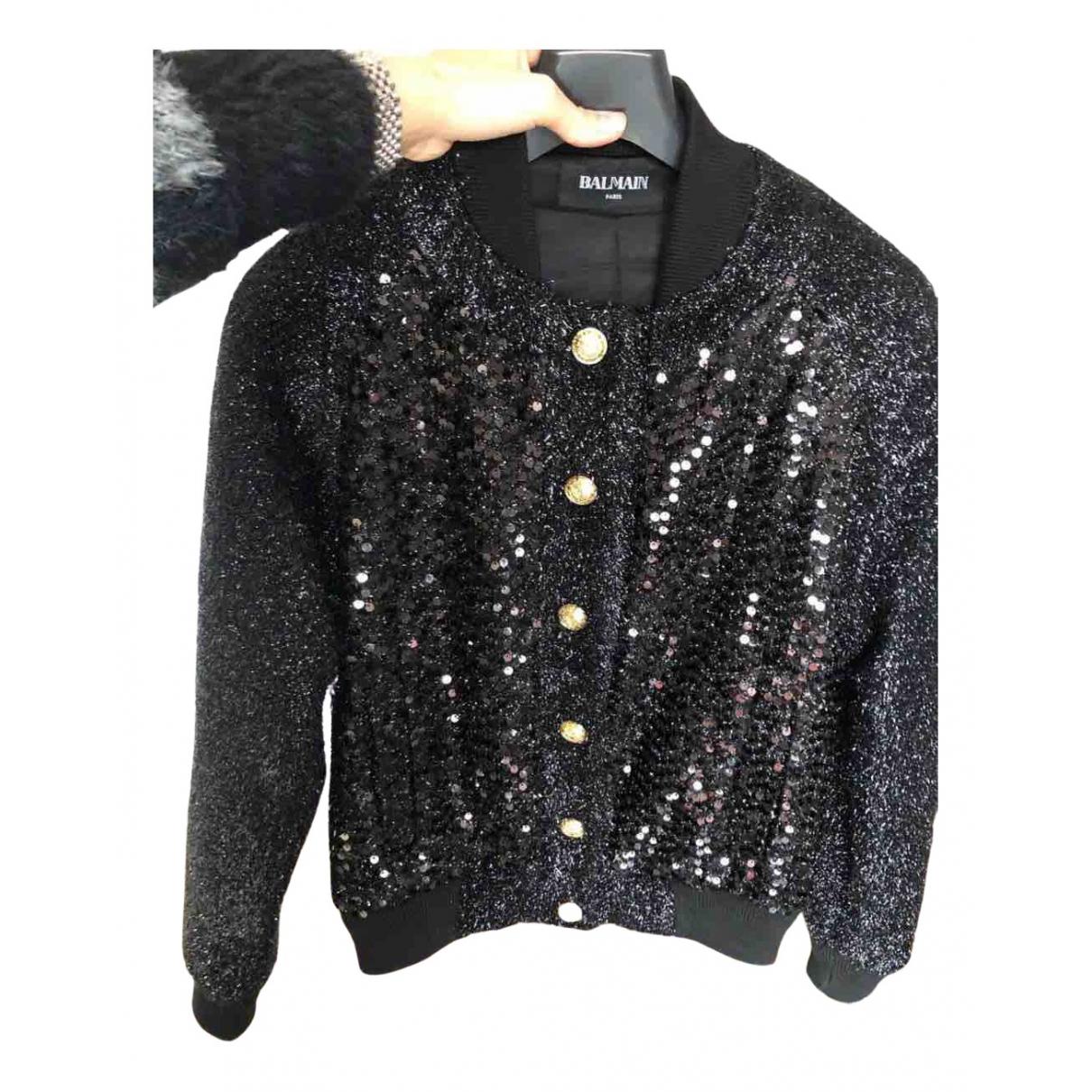 Balmain N Black Glitter jacket for Women 36 FR