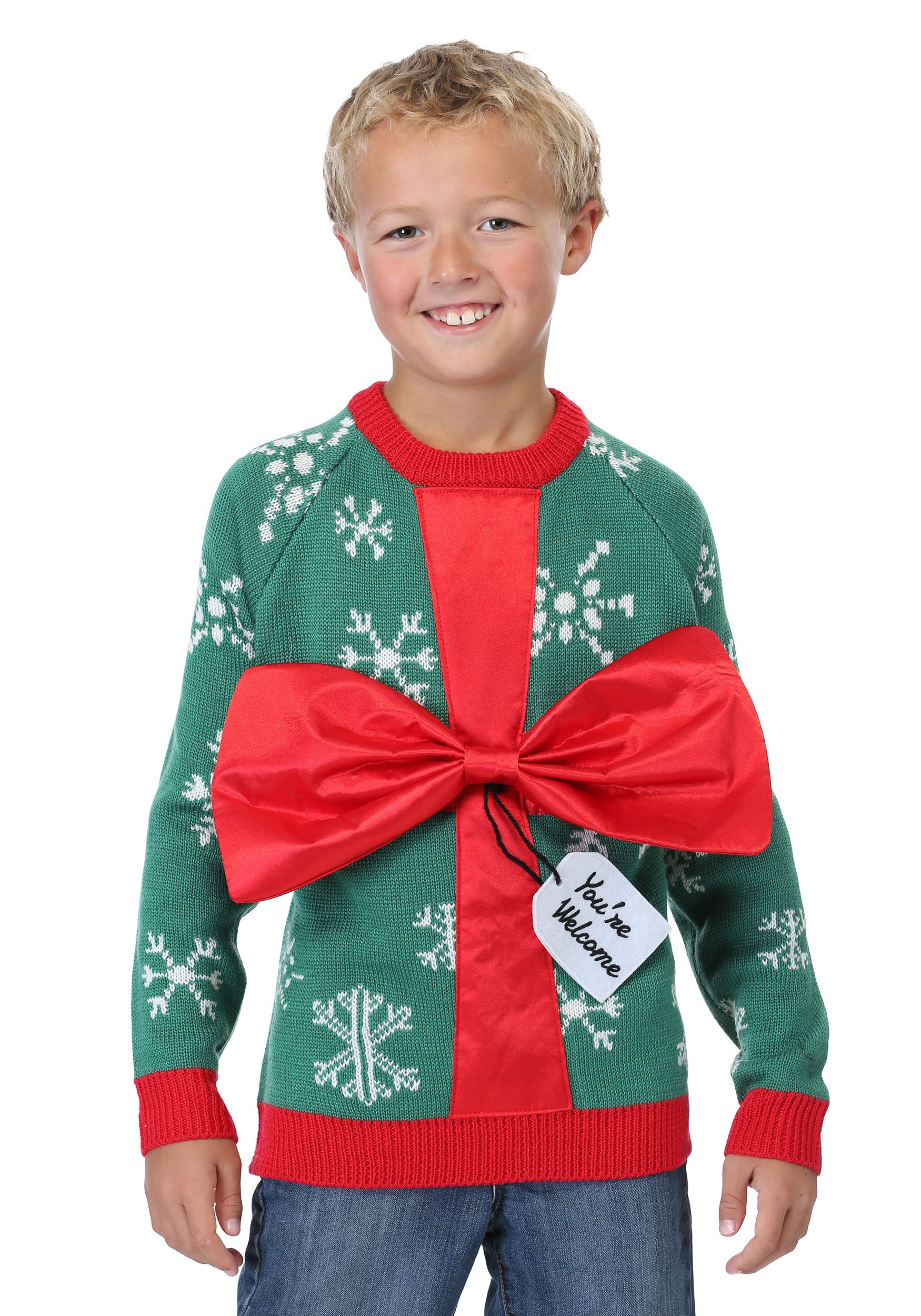 Present Ugly Christmas Sweater for Kids