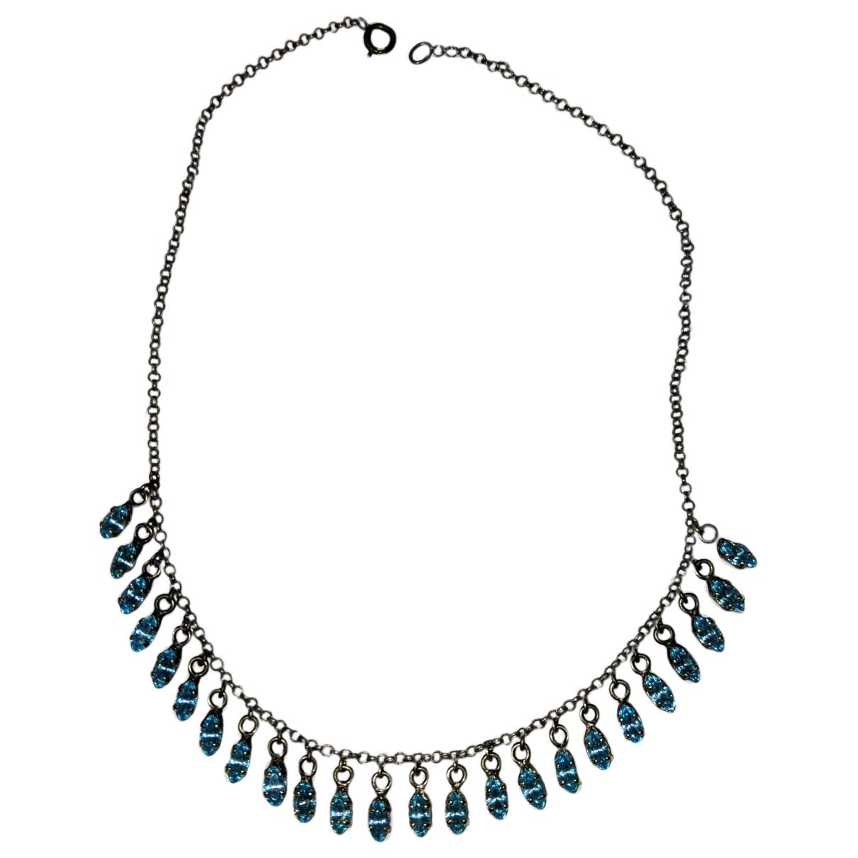Les Nereides - Collier   pour femme en metal - bleu