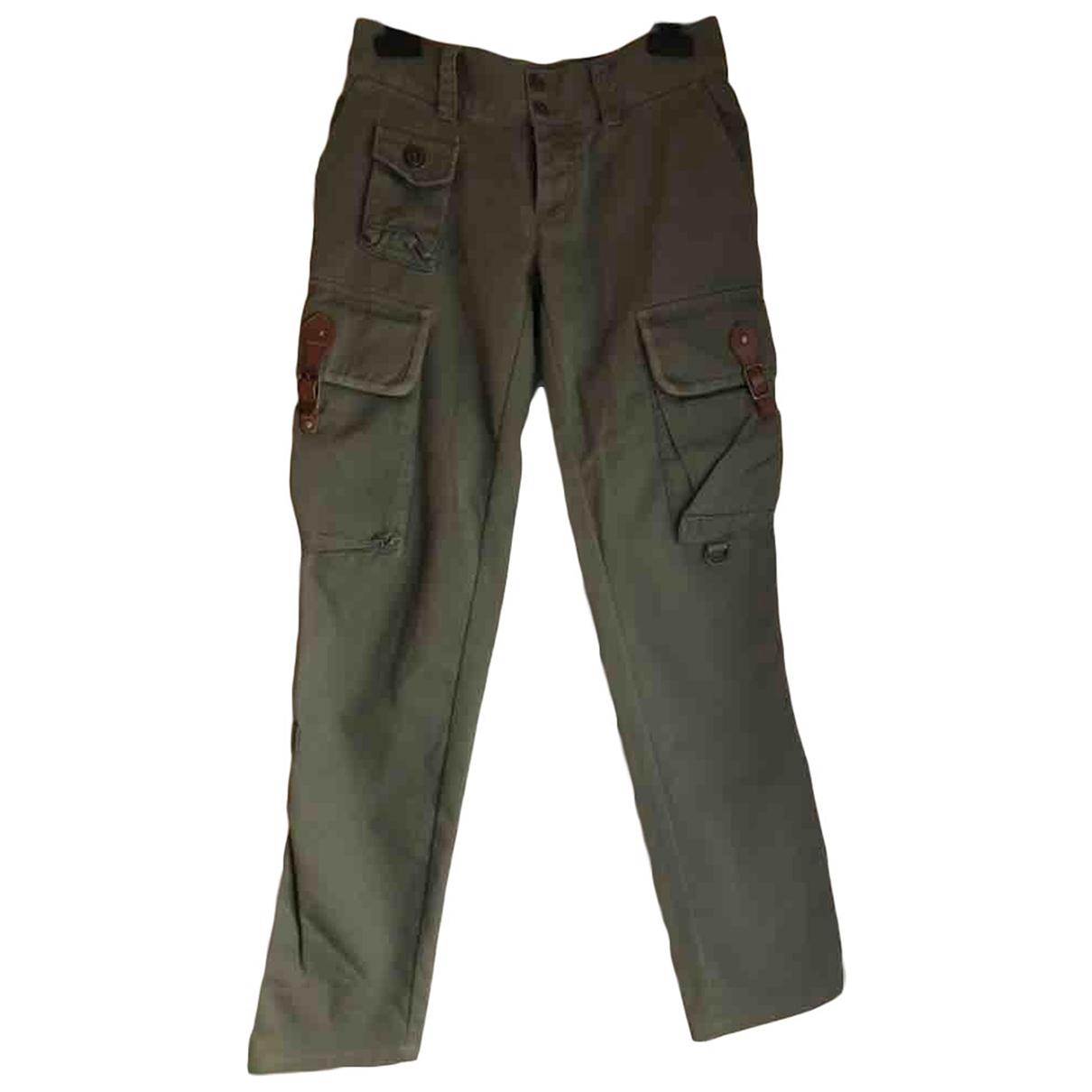 Ralph Lauren \N Green Cotton Trousers for Women XS International