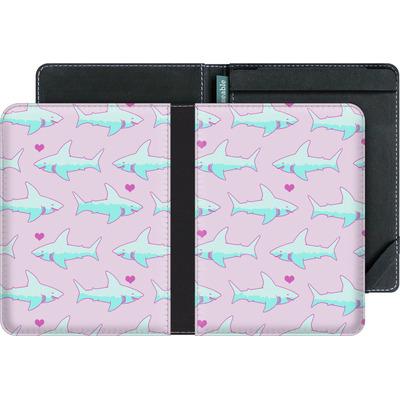 tolino vision eBook Reader Huelle - Sharks and Hearts von caseable Designs