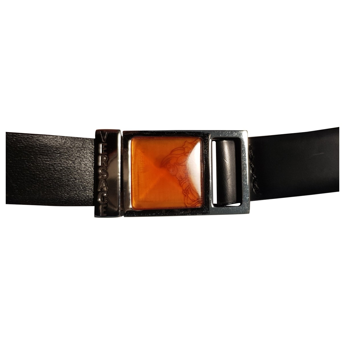 Gianni Versace \N Black Leather belt for Women 75 cm