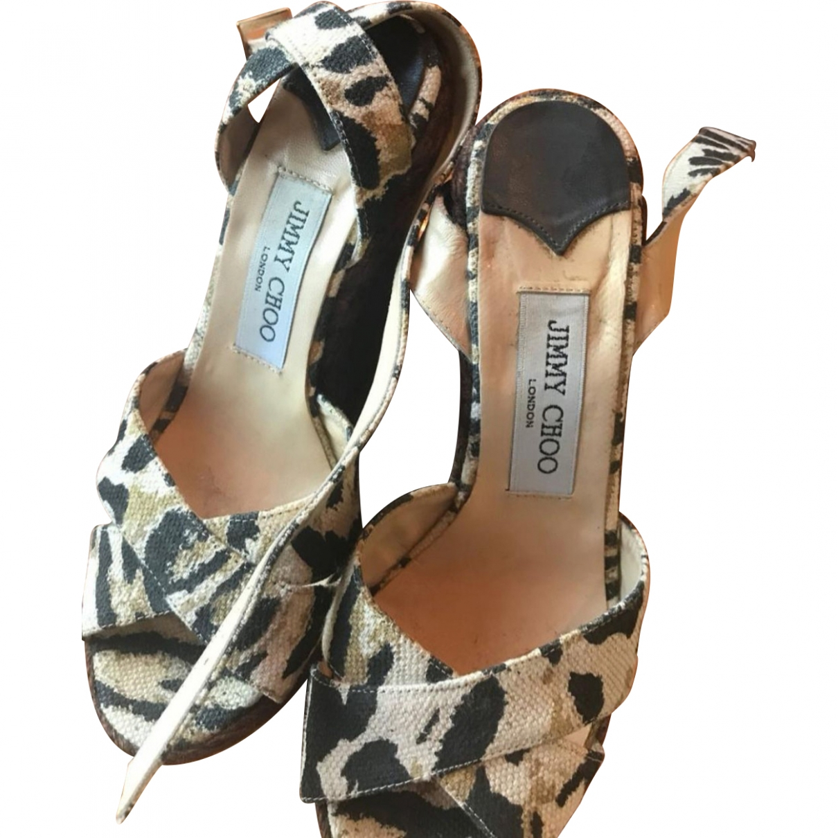 Jimmy Choo \N Brown Cloth Sandals for Women 37 EU