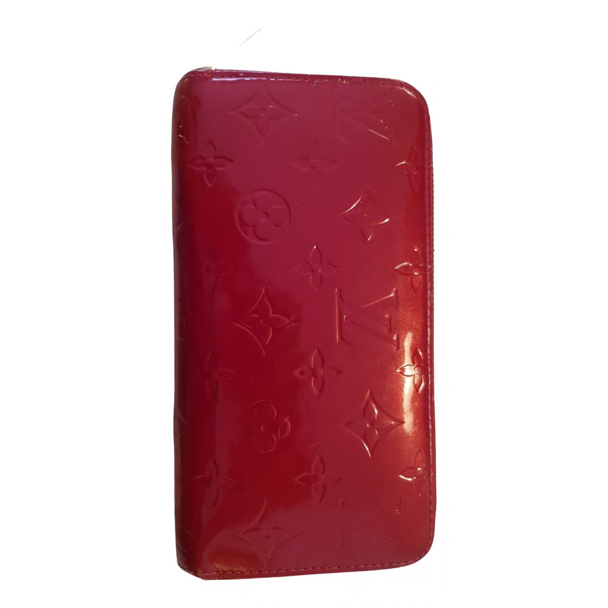 Louis Vuitton - Portefeuille Zippy pour femme en cuir verni - rouge