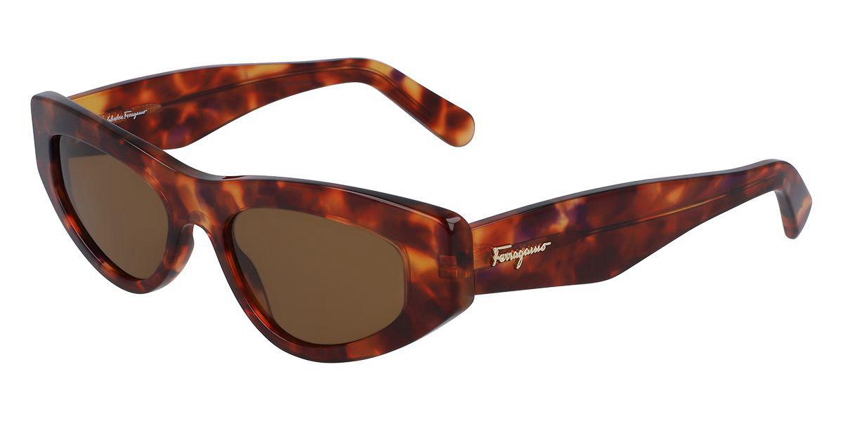 Salvatore Ferragamo SF995S 214 Women's Sunglasses Tortoise Size 53