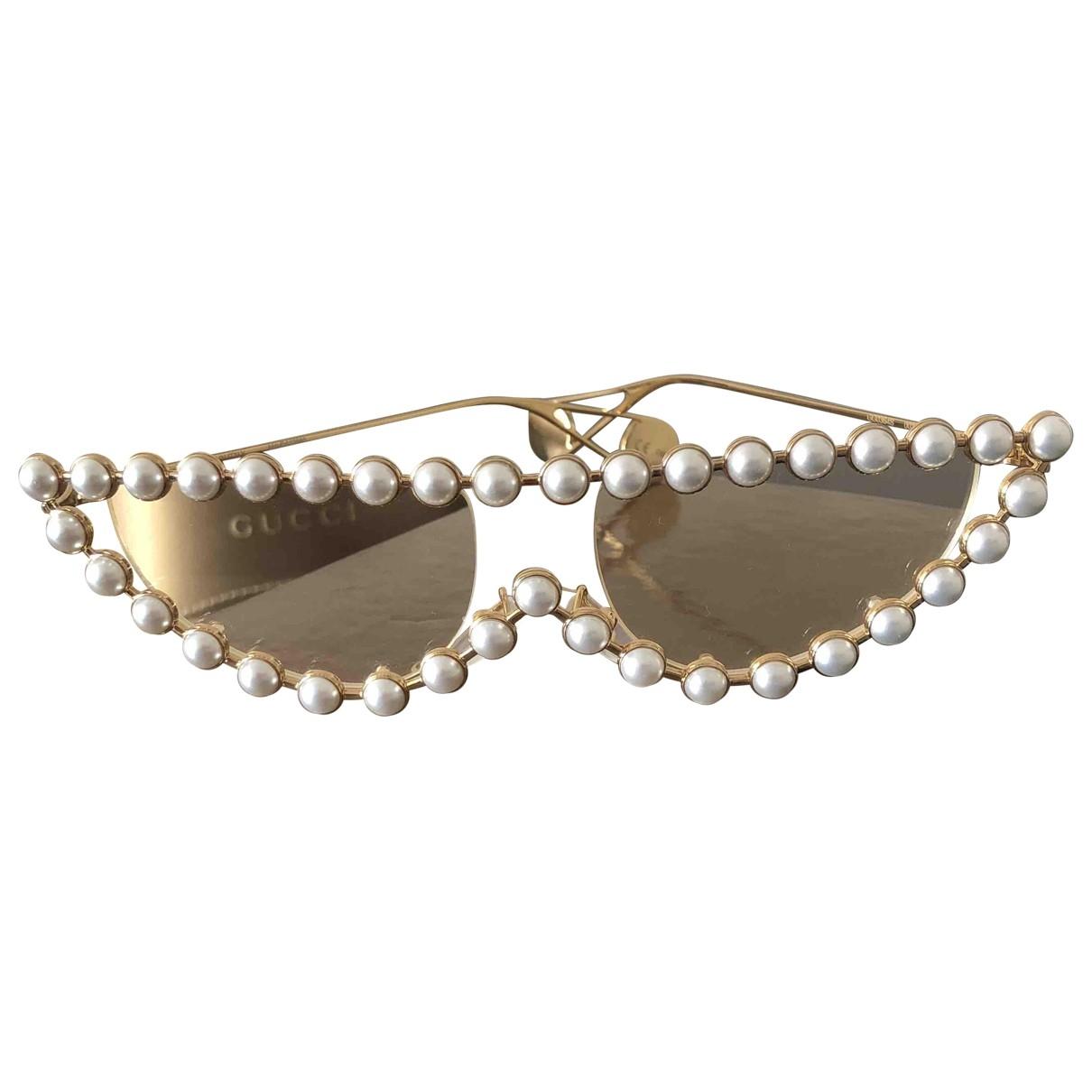Gucci \N Gold Metal Sunglasses for Women \N