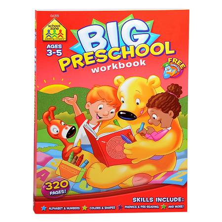 School Zone Big Preschool Workbook - 1.0 Each
