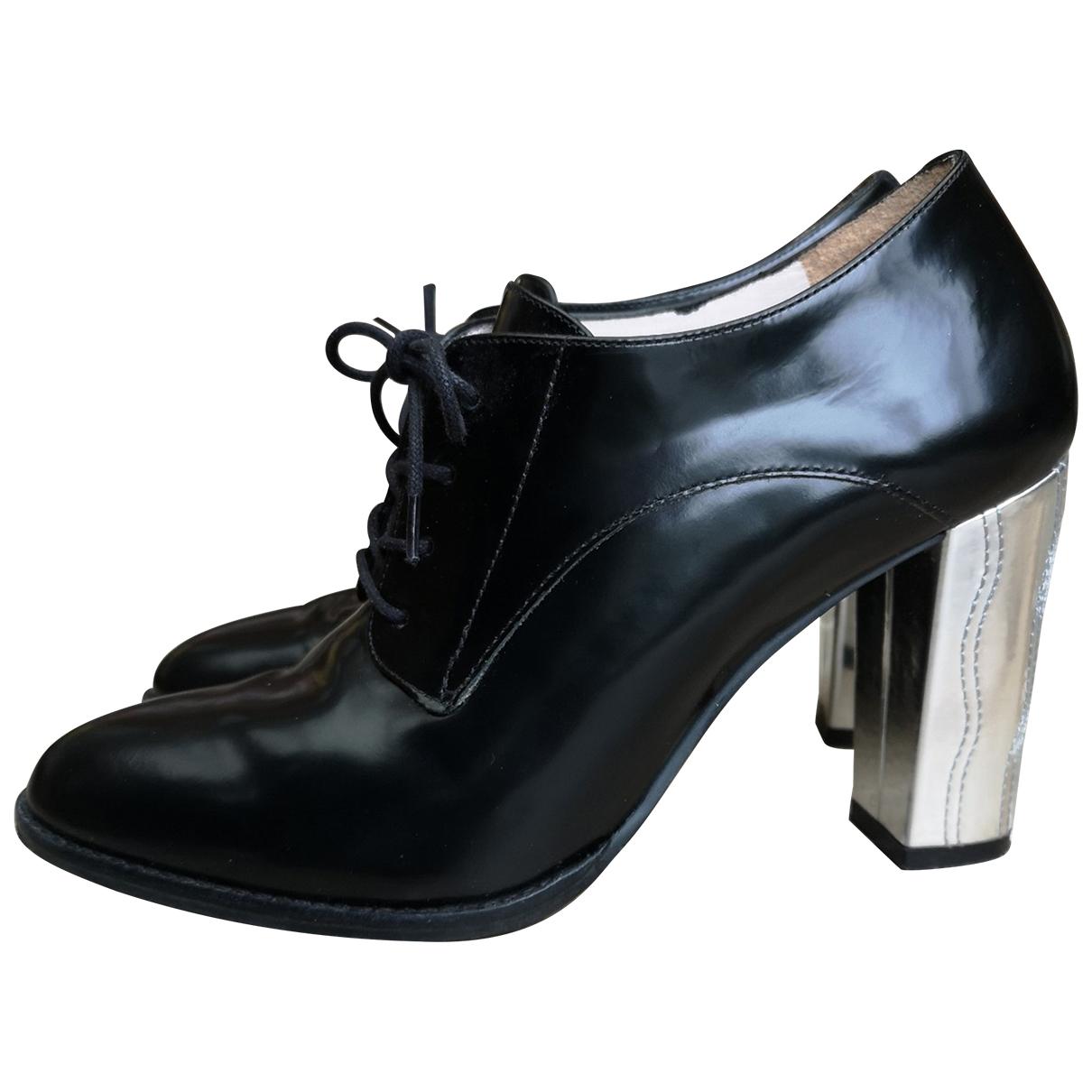Mellow Yellow \N Black Leather Heels for Women 38 EU