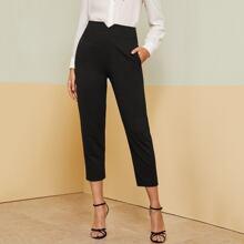 Pantalones carpis con bolsillo oblicuo con banda de cintura notched
