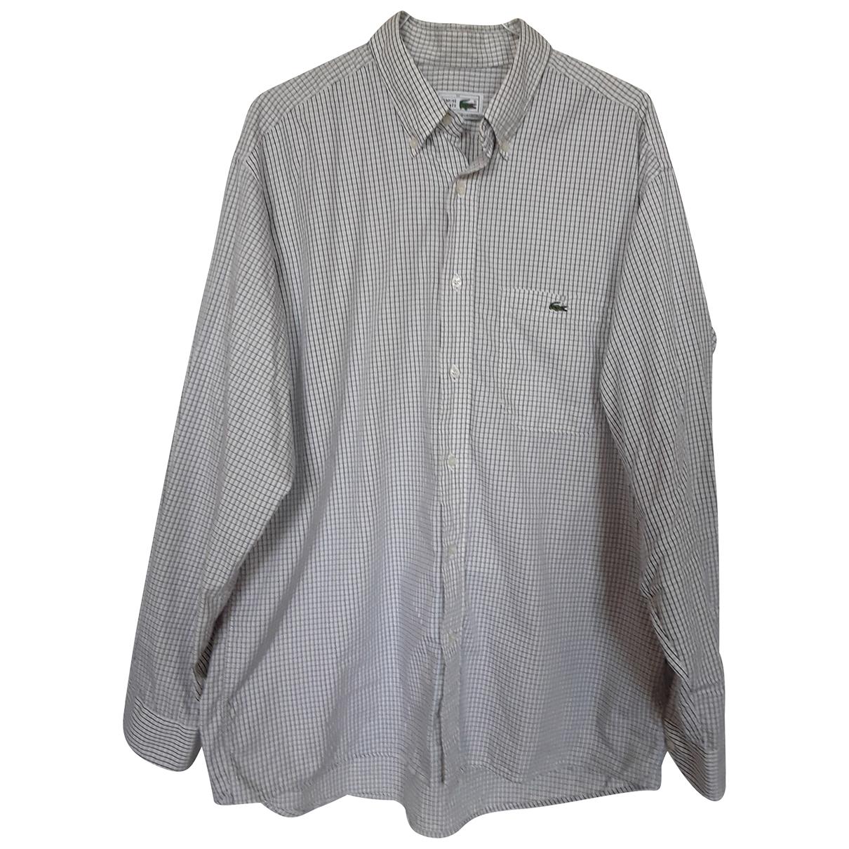 Lacoste - Chemises   pour homme en coton - blanc