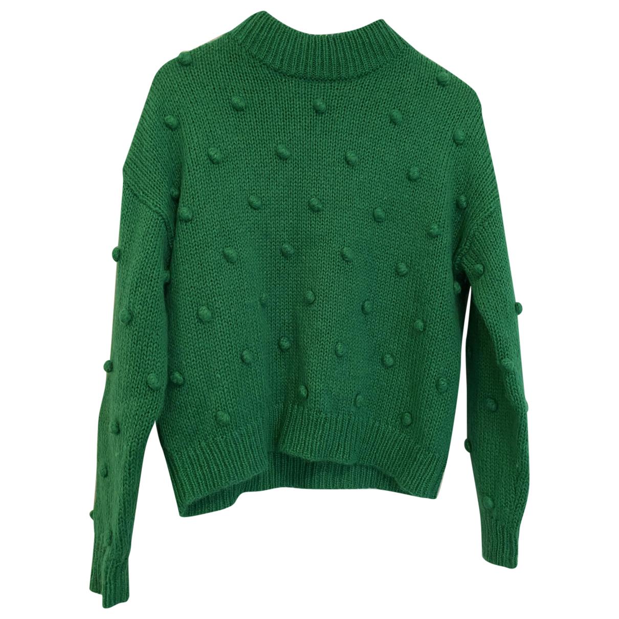 Kitri \N Pullover in  Gruen Wolle
