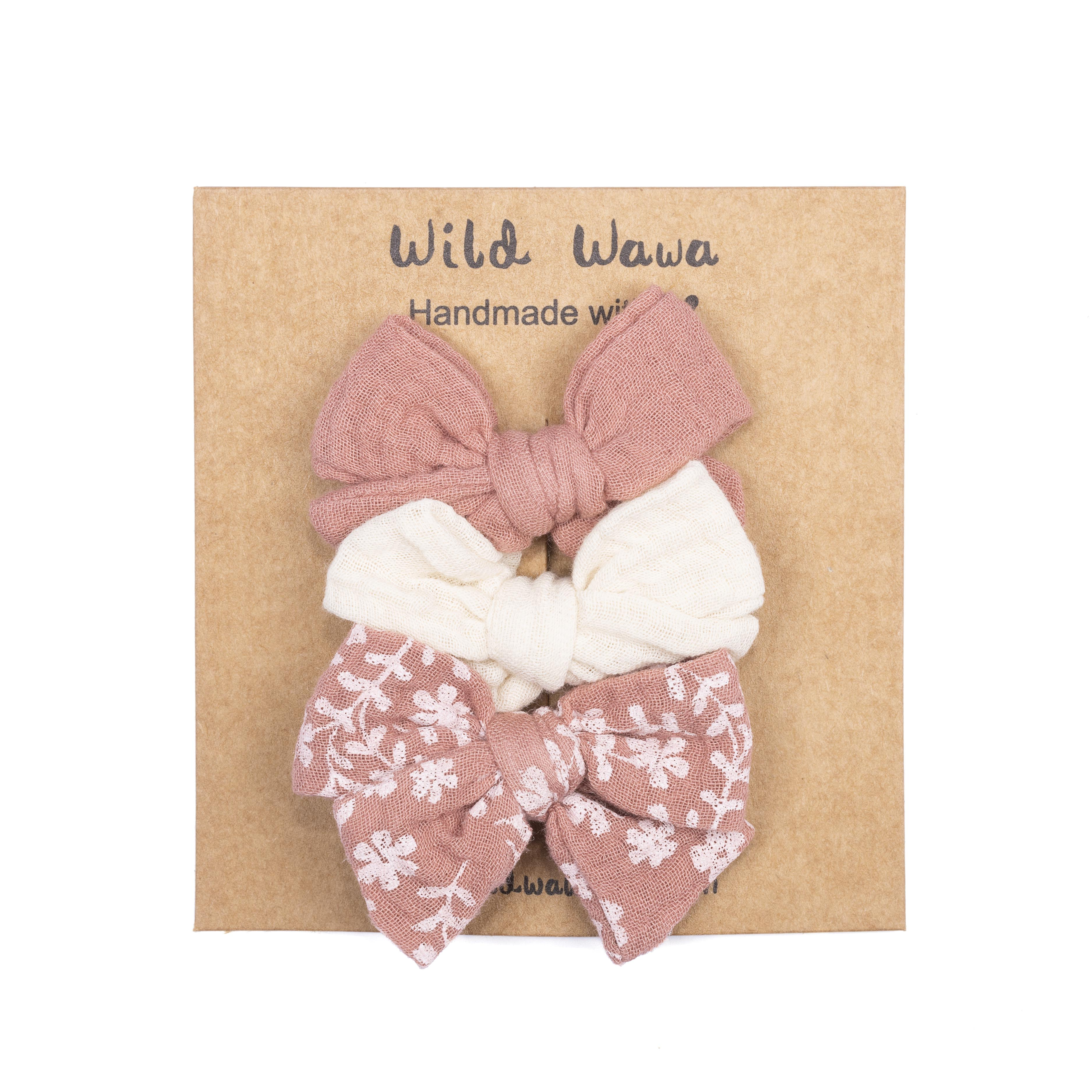 Bow Clips 3 Pieces - Stardust