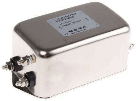 Schaffner , FN2010 30A 250 V ac 0 → 400Hz, Chassis Mount EMI Filter, Stud
