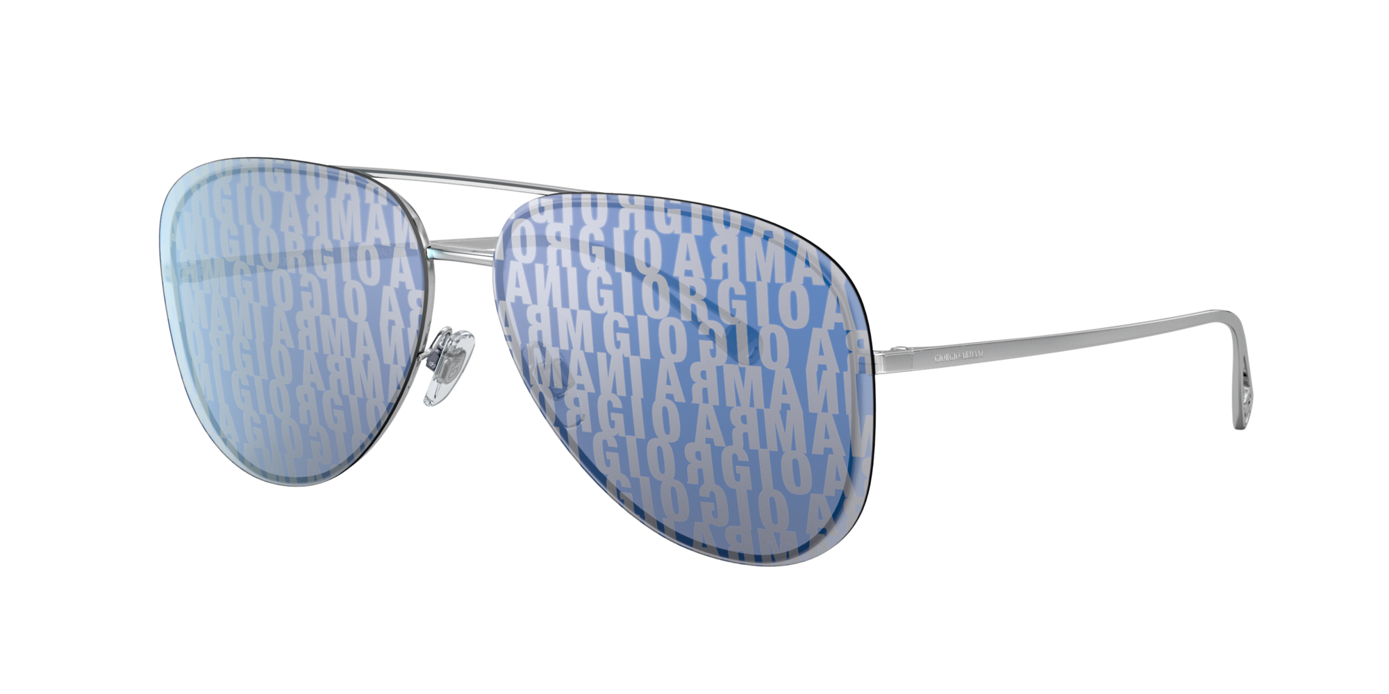 Giorgio Armani Woman  AR6084 -  Frame color: Silver, Lens color: Blue, Size 60-13/140