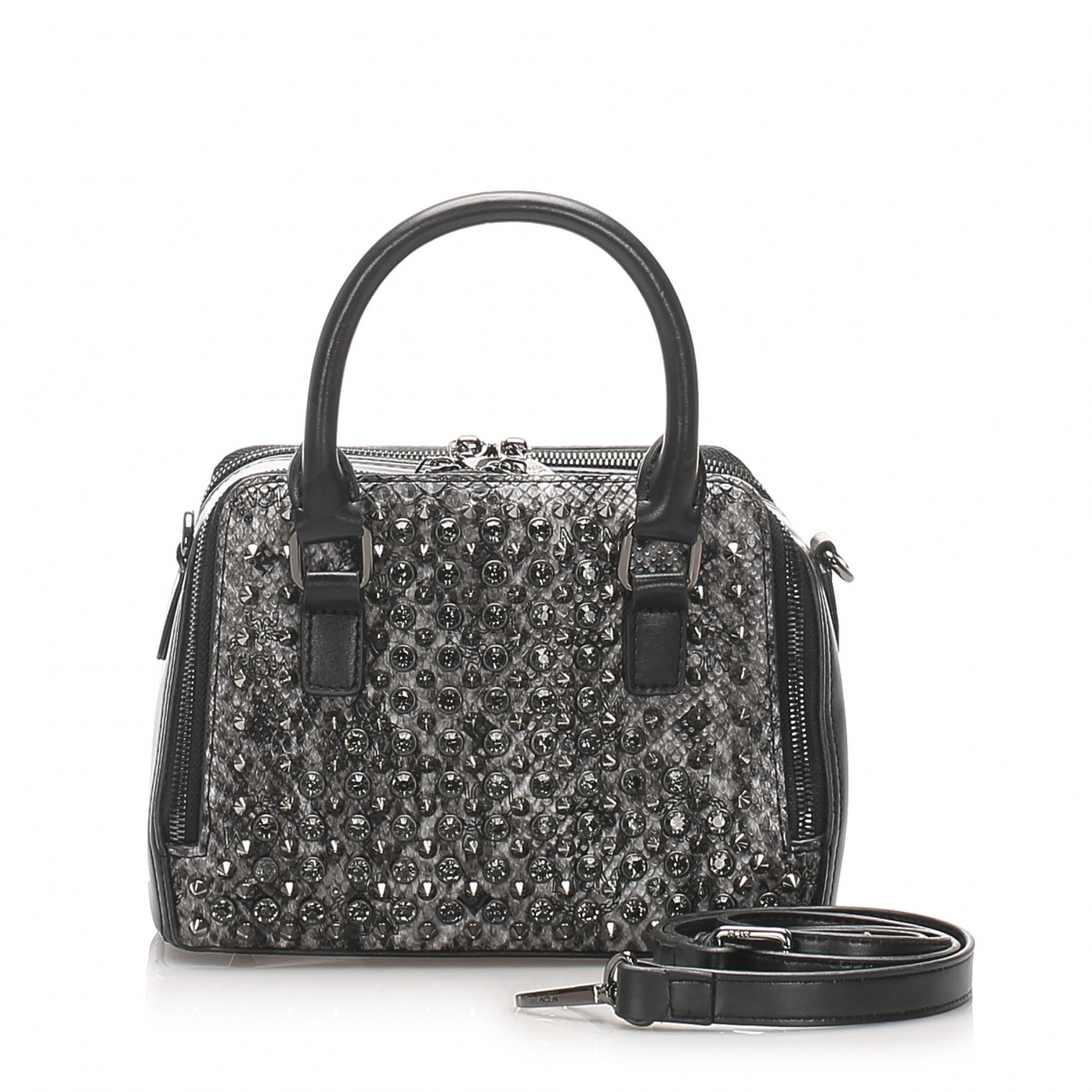 Mcm \N Black Leather handbag for Women \N