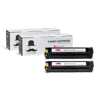 Compatible HP 131A CF213A cartouche de toner magenta - Moustache - 2/paquet