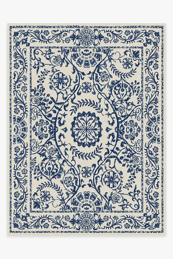 Washable Rug Cover | Delphina Delft Blue Rug | Stain-Resistant | Ruggable | 9'x12'