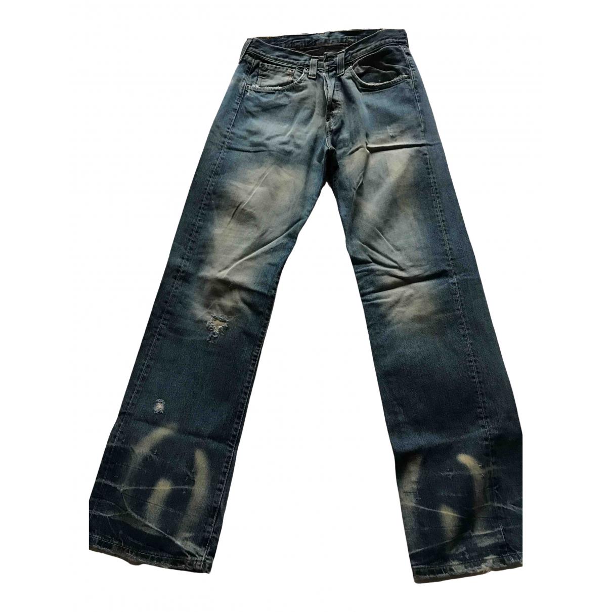 Levi's 501 Blue Cotton Jeans for Men 28 US