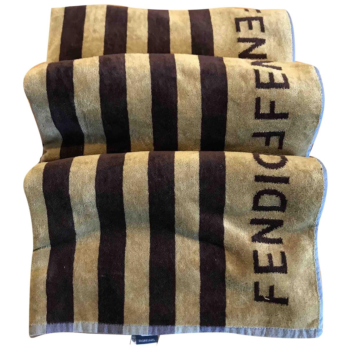 Fendi - Linge de maison   pour lifestyle en coton - marron