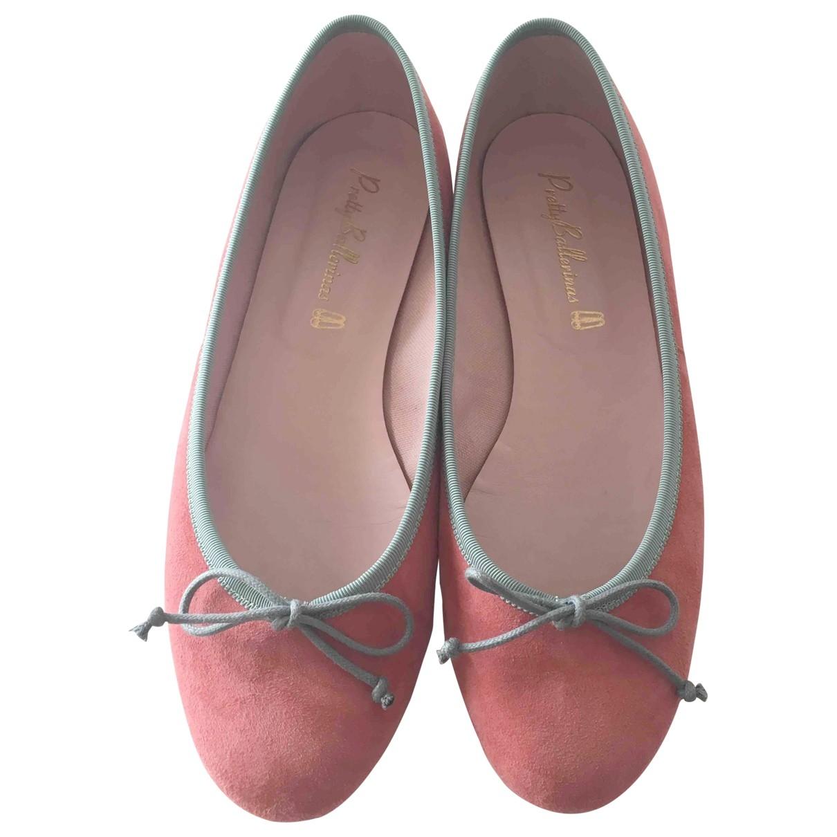 Pretty Ballerinas \N Pink Suede Ballet flats for Women 39.5 EU
