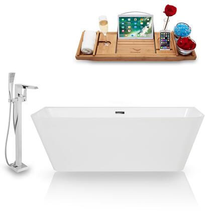 KH85-100  67'' Freestanding Tub  Faucet  and Tray