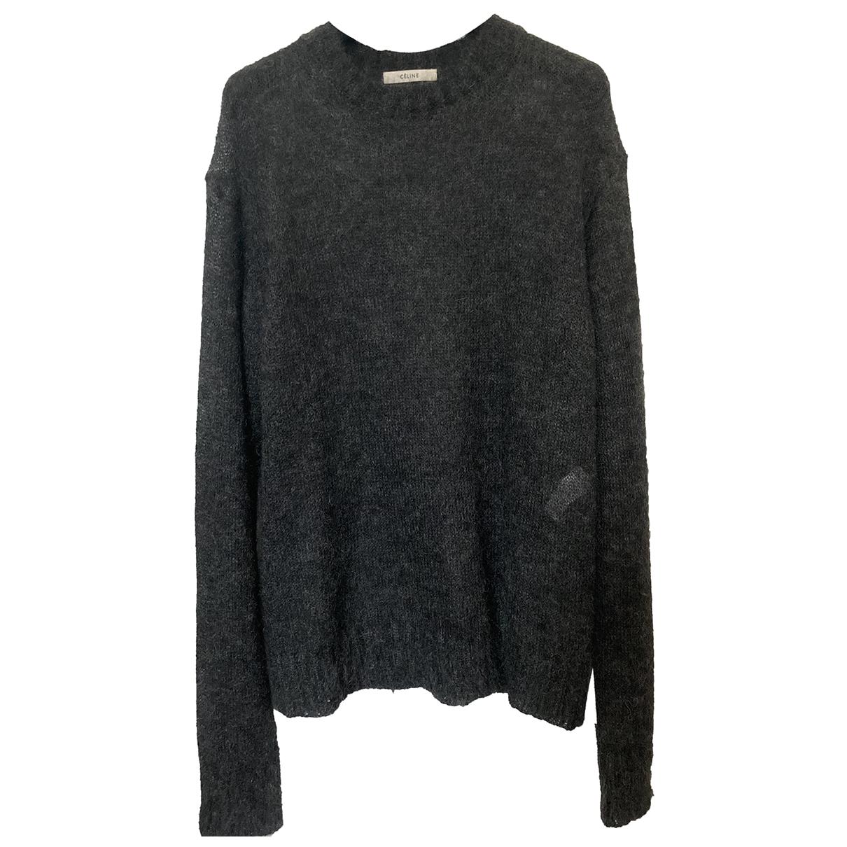 Celine - Pull   pour femme en laine - anthracite