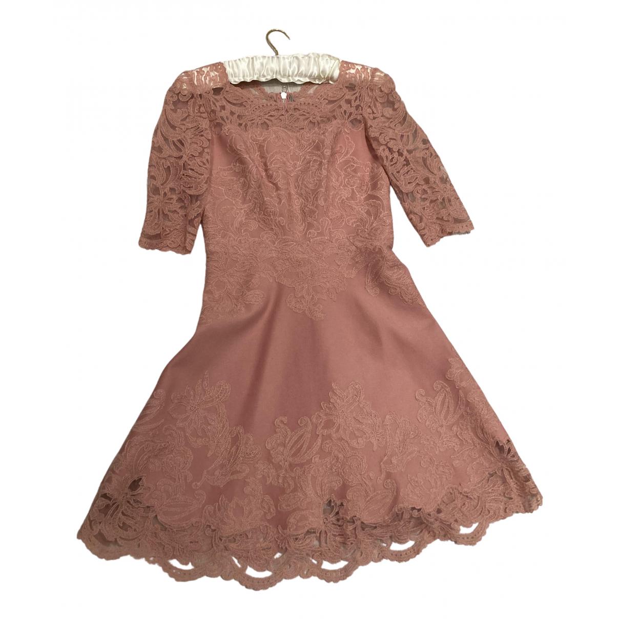 Ermanno Scervino N Pink Wool dress for Women 40 IT