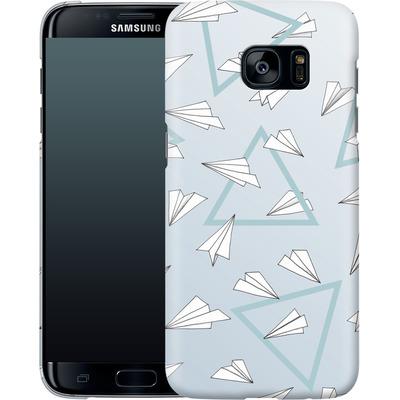 Samsung Galaxy S7 Edge Smartphone Huelle - Paper Planes Blue von Barlena