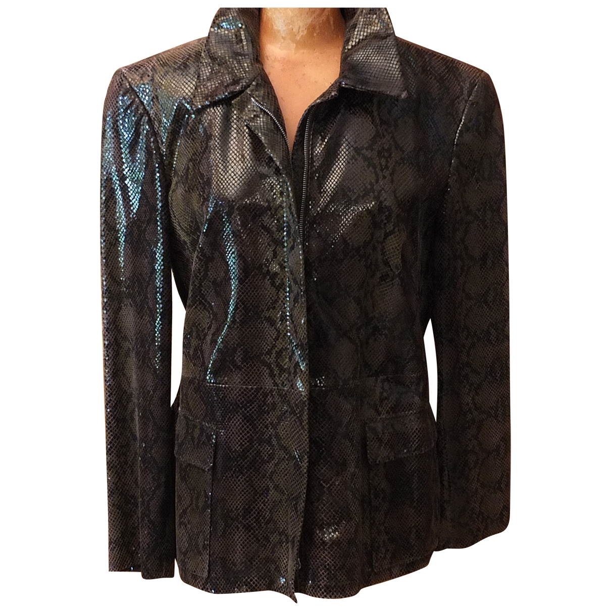 Cerruti \N Green Python jacket for Women 42 FR