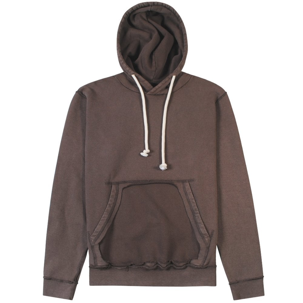 Maison Margiela Distressed Hoodie Brown Colour: BROWN, Size: MEDIUM