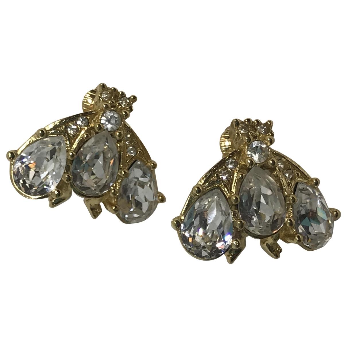 Dior \N Gold Crystal Earrings for Women \N