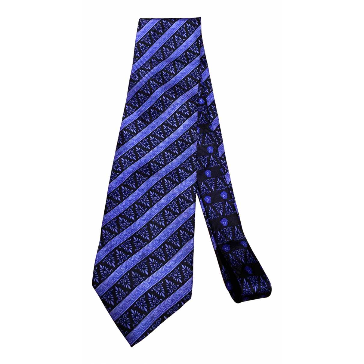 Gianni Versace N Blue Silk Ties for Men N