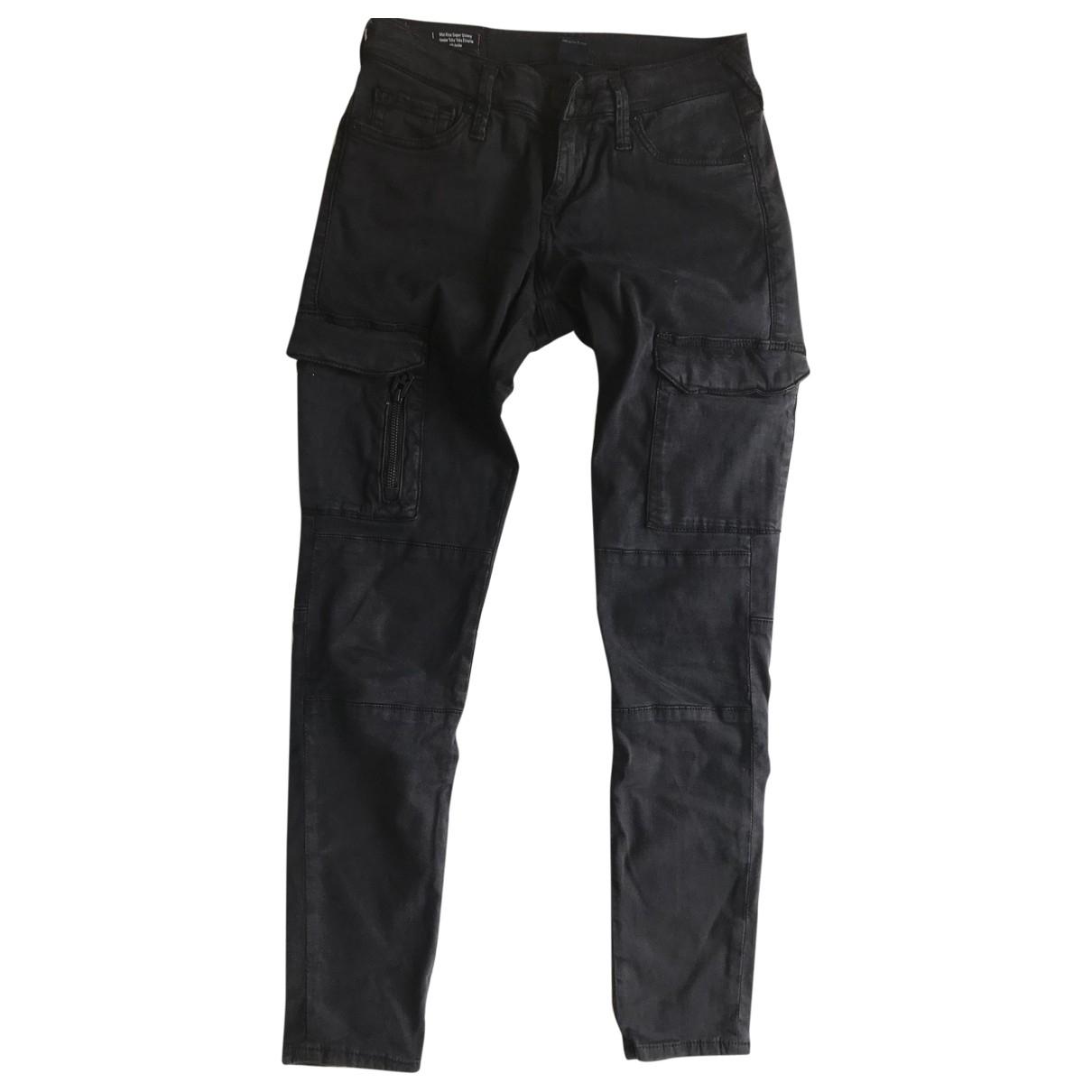 True Religion \N Black Cotton Trousers for Women S International
