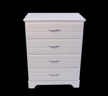 Platinum Collection 514400 30 Chest with 4 Drawers  Solid Wood Frame and Wood-on-Wood Drawer Glides in