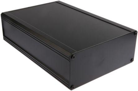 RS PRO Black Extruded Aluminium Heat Sink Case, IP40, 300 x 200 x 86mm