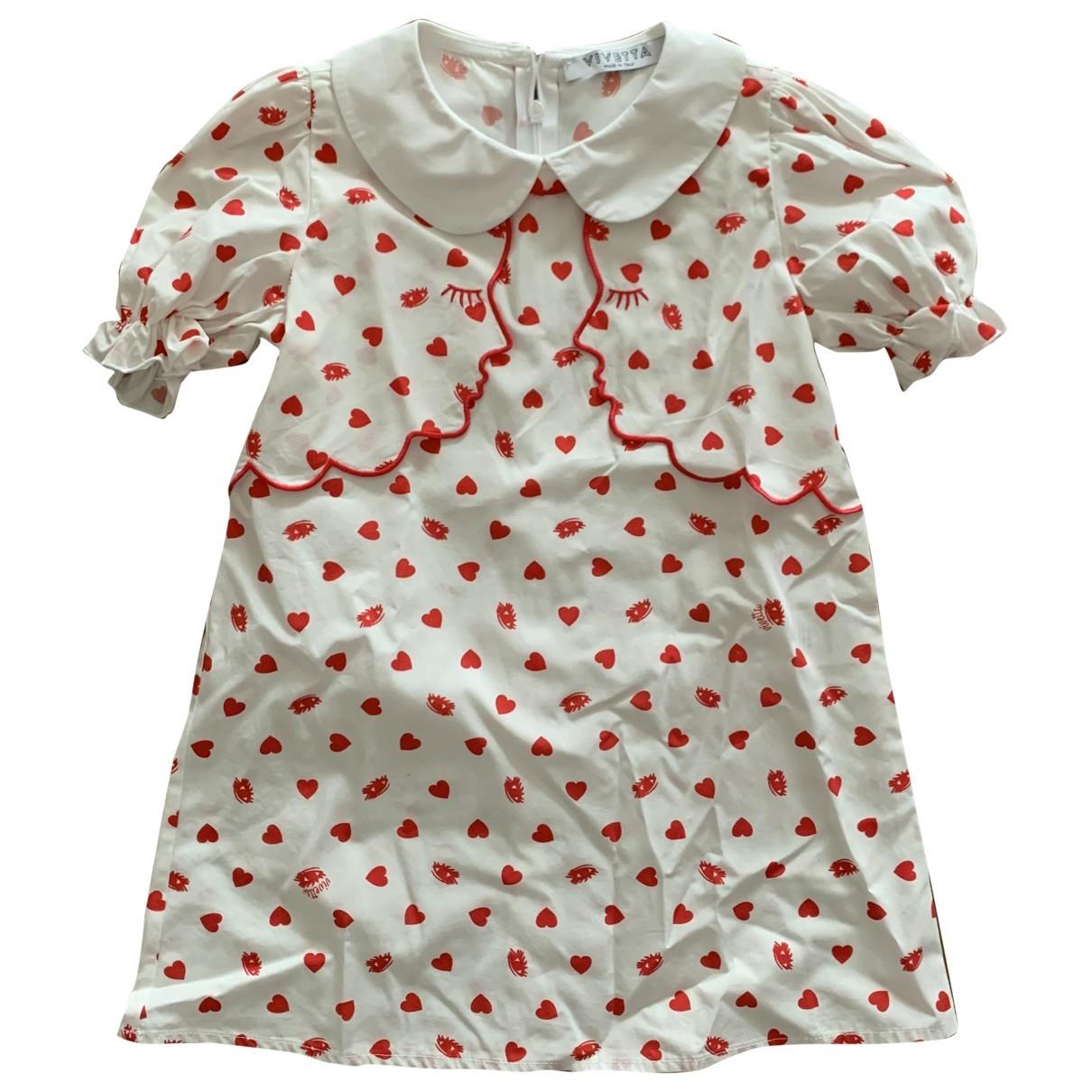 Vivetta - Robe    pour enfant en coton - blanc