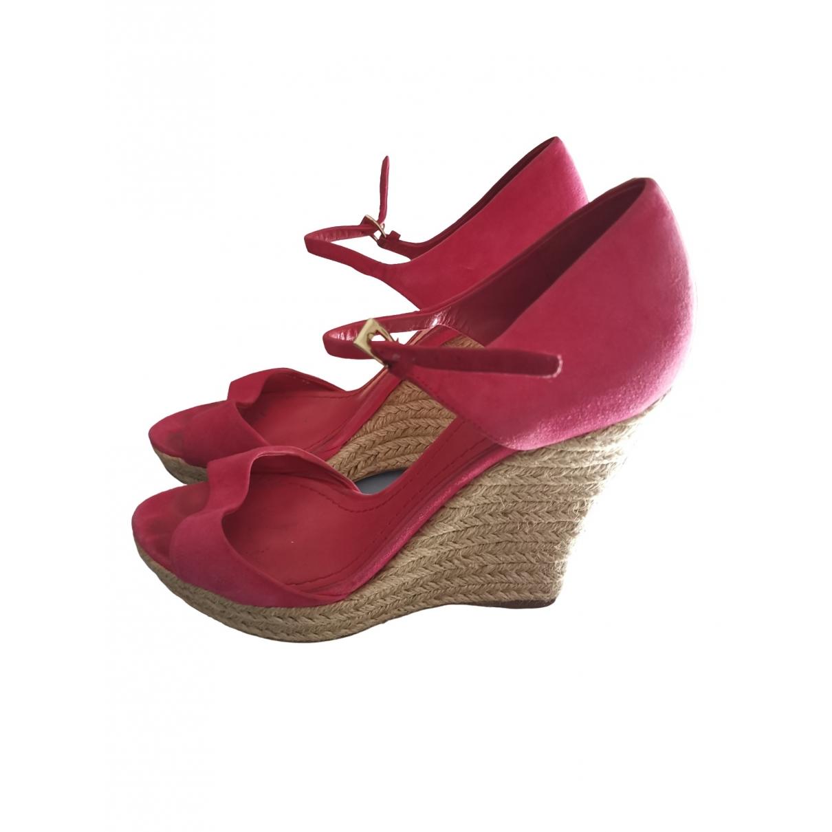 Dior \N Pink Suede Sandals for Women 38 EU